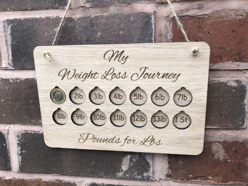 Pounds for Lbs Weight loss plaque
